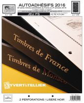 France 2016/2ème Semestre Feuilles Annuelles Autoadhésifs Liseré Noir FS pour Timbres YVERT