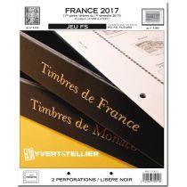 France 2017/1er Semestre Feuilles Annuelles Liseré Noir FS pour Timbres YVERT