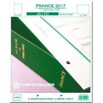 France 2017/1er Semestre Feuilles Annuelles Liseré Vert FO pour Timbres YVERT
