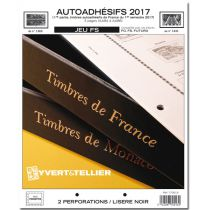 France 2017/1er Semestre Feuilles Annuelles Autoadhésifs Liseré Noir FS pour Timbres YVERT
