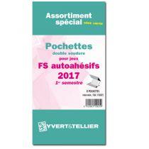 France 2017/1er Semestre FO FS Assortiment de pochettes de protection pour Timbres Adhésifs YVERT