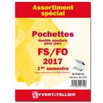 France 2017/1er Semestre FO FS Assortiment de pochettes de protection pour Timbres Gommés YVERT