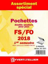 France 2018/1er Semestre FO FS Assortiment de pochettes de protection pour Timbres Gommés YVERT