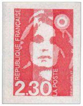 1 - Timbre Adhésif France Marianne Briat 1990