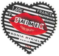1514/15 - Timbre Adhésif France Saint Valentin Coeur Sonia Rykiel 2018