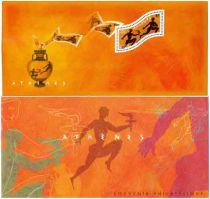2 Timbre Bloc souvenir France Jeux Olympiques Athènes 2004