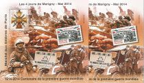 2014 Blocs MARIGNY La Grande Guerre Dentelé et Non Dentelé