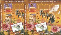 2017 Blocs MARIGNY Les Abeilles Dentelé et Non dentelé