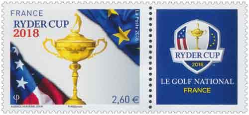2018 - Timbre France Ryder Cup du Bloc 144