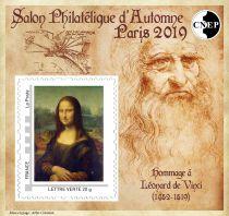 2019 Bloc CNEP n°82 Salon Philatélique de Paris Hommage Léonard de Vinci