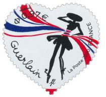 2020 - Timbres Adhésifs France Saint Valentin Coeur Guerlain - 1813/1814 (2020)