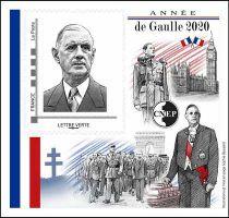 2020 Bloc CNEP n°84 Salon Philatélique d\'Automne Année De Gaulle