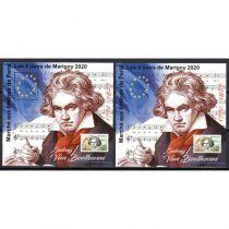 2020 Blocs MARIGNY Ludwig Van Beethoven Dentelé et Non Dentelé