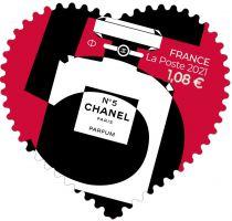 2021 - Timbres Adhésifs France Saint Valentin Coeur Chanel - (2021)