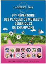 2ème Répertoire Lambert des plaques de muselets génériques de Champagne édition 2019
