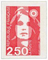 3 - Timbre Adhésif France Marianne Briat 1991