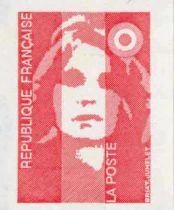 4 - Timbre Adhésif France Marianne Briat sans valeur 1993