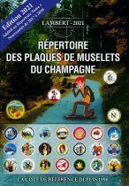 Additif Répertoire Lambert des plaques de muselets de Champagne Nouveautés 2017-2020 Edition 2021