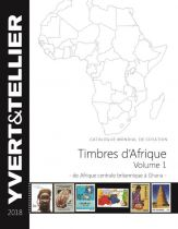 Afrique Centrale à Ghana Volume 1 2018 Yvert et Tellier Cotation de Timbres