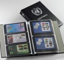 Album Luxe FDC Nations Unies Uno Noir