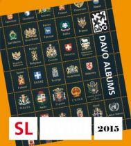 2015 Feuilles Annuelles Regular pour Timbres DAVO