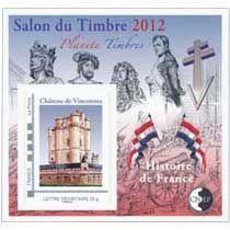 Bloc CNEP Salon du Timbre Paris 2012