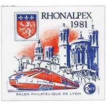 Bloc CNEP Salon Philat'lique de Lyon Rhonalpex 1981