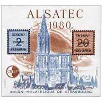 Bloc CNEP Salon Philat'lique de Strasbourg Alsatec 1980