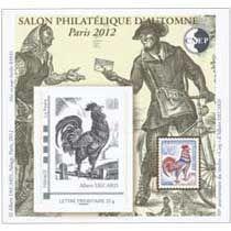 Bloc CNEP Salon Philatelique d\'Automne 2012