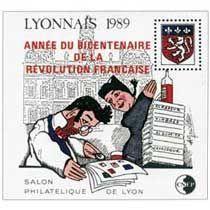 Bloc CNEP Salon Philatelique de Lyon 1989 Surcharge Bicentenaire