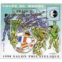 Bloc CNEP Salon Philatelique de Lyon 1999 Coupe du Monde Surcharg'