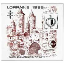 Bloc CNEP Salon Philatelique de Metz 1988
