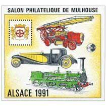 Bloc CNEP Salon Philatelique de Mulhouse 1991