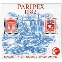 Bloc CNEP Salon Philatelique de Paris Paripex 1982