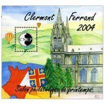 Bloc CNEP Salon Philatelique de Printemps … Clermont-Ferrand 2004