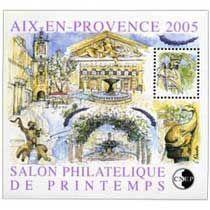 Bloc CNEP Salon Philatelique de Printemps Aix en provence 2005