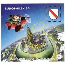 Bloc CNEP Salon Philatelique de Strasbourg 1993