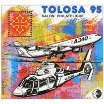 Bloc CNEP Salon Philatelique de Toulouse Tolosa 1995