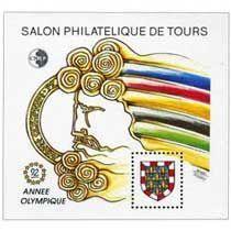 Bloc CNEP Salon Philatelique de Tours 1992 Année Olympique