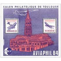 Bloc CNEP Salon Philatelique deToulouse Aviaphil 1984