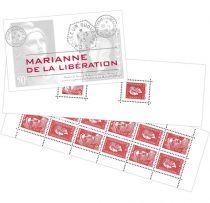 Carnet Timbres Gommés France Marianne de la Libération 2015