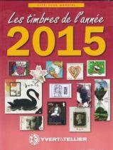 Catalogue des Timbres de l\'Année 2015 Yvert et Tellier