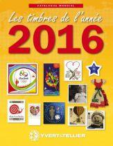 Catalogue des Timbres de l\'Année 2016 Yvert et Tellier
