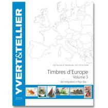 Catalogue Europe Volume 3 Cotation Timbres Héligoland à Pays-Bas 2019 Yvert et Tellier