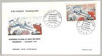 Enveloppe Polynésie Chasse sous marine 1965