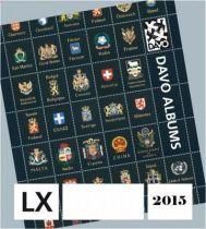 2015 Feuilles Annuelles Luxe pour Timbres DAVO