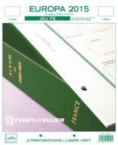 Europa 2015 Feuilles Annuelles Liseré Vert FE pour Timbres YVERT