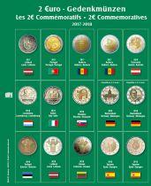 Feuille Premium pour 2€ commémoratives 2017-2018 Safe