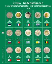 Feuille Premium pour 2€ commémoratives 2018 Safe