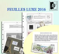 Feuilles France 2016 pour Timbres AV Editions